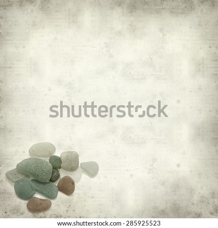 textured old paper background with sea glass #285925523