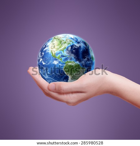 Ecology Earth Concept - Protectors of the Earth (Elements of this image furnished by NASA) #285980528