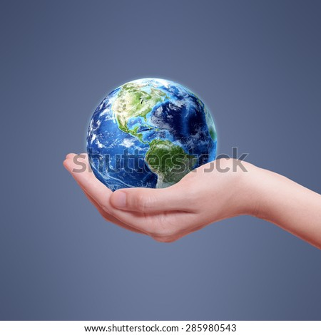 Ecology Earth Concept - Protectors of the Earth (Elements of this image furnished by NASA) #285980543