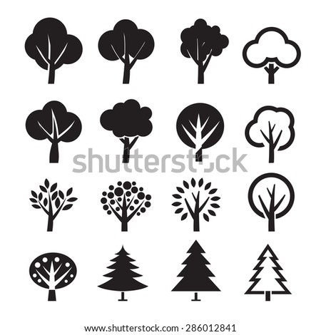 Set of vector tree #286012841