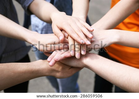 United hands outdoors #286059506