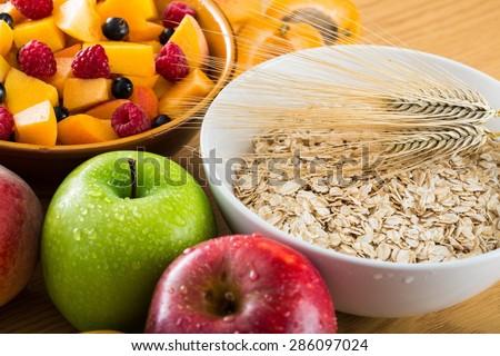 Fiber, Dietary Fiber, Food. Royalty-Free Stock Photo #286097024