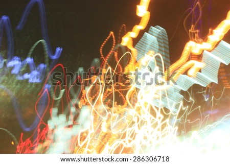 light background car in city at night #286306718
