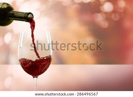 Wine, Pouring, Glass.