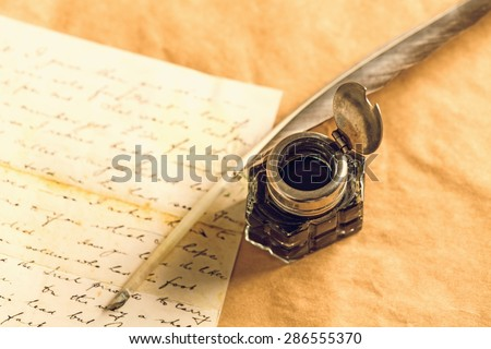 Quill Pen, Old, Pen. Royalty-Free Stock Photo #286555370