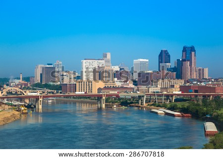 Skyline of St, Paul in Minnesota, USA