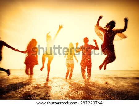 Friendship Freedom Beach Summer Holiday Concept #287229764