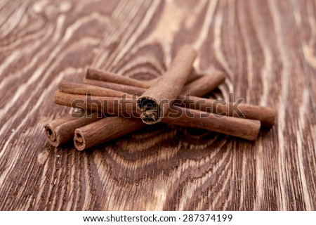 Bunch of cinnamon sticks #287374199