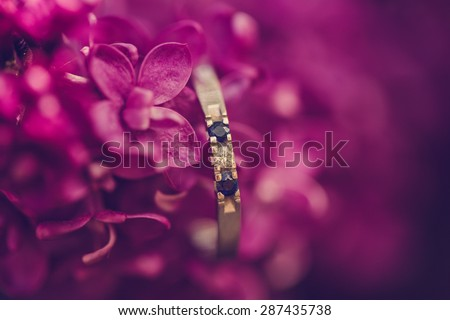 engagement ring with flowers #287435738