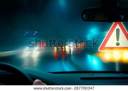 Caution - Night Driving