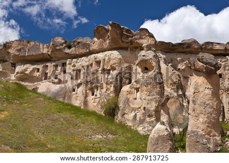 pigeon houses in Rose valley - Cappadocia - Central Anatolia Turkey #287913725