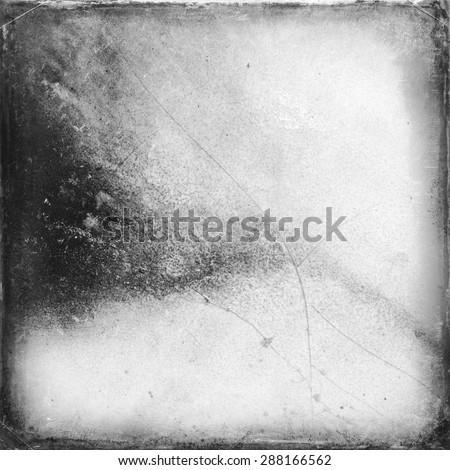 Medium format film frame with grain textured background