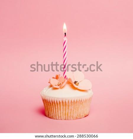 Pink birthday cupcake #288530066