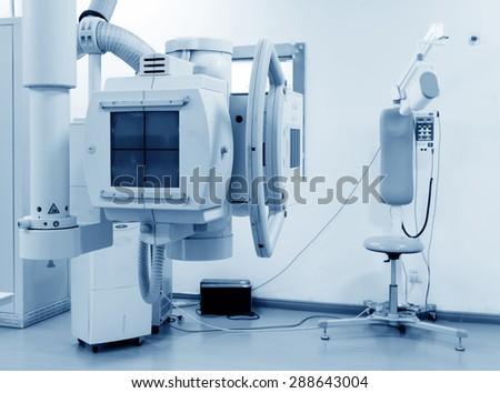 x-ray machine in hospital Royalty-Free Stock Photo #288643004