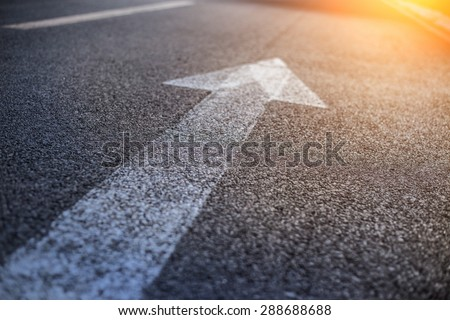 Forward igns on the road Forward and right signs on the road Royalty-Free Stock Photo #288688688