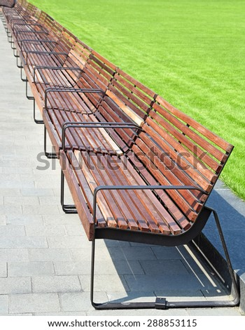 Park benches #288853115