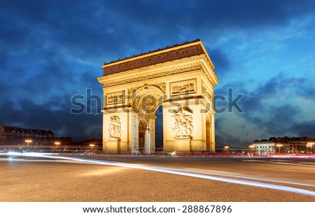 Paris, Arc de Triumph, France #288867896