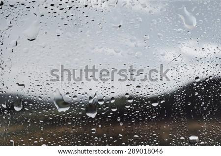 Rain, Window, on.