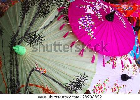 Painted umbrellas #28906852