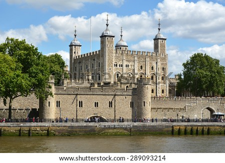 Tower of London Royalty-Free Stock Photo #289093214
