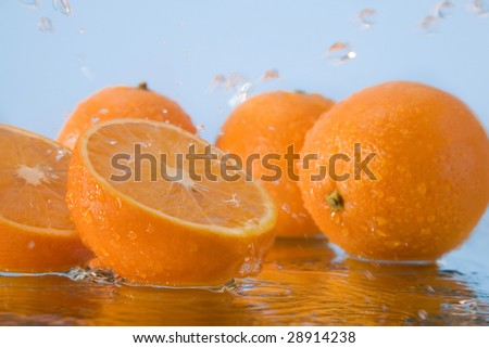 orange in water #28914238