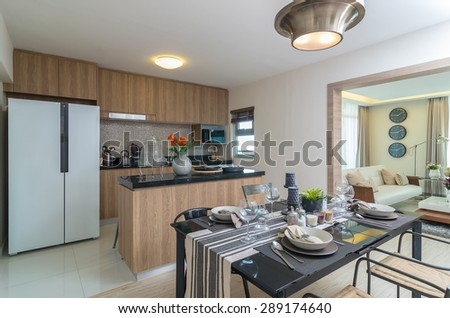 Luxury Interior kitchen, Dinning room #289174640