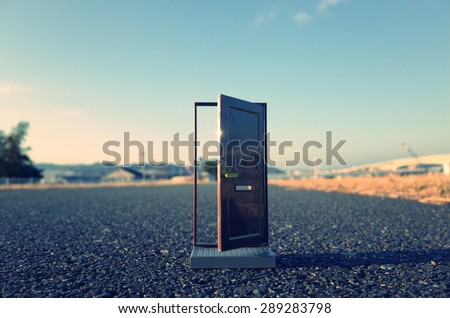 Door to the future Royalty-Free Stock Photo #289283798