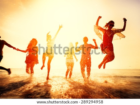 Friendship Freedom Beach Summer Holiday Concept #289294958