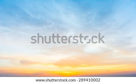 Dramatic sunset and sunrise sky. #289410002