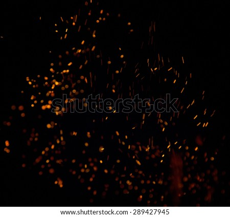 Fire flames on a black background #289427945
