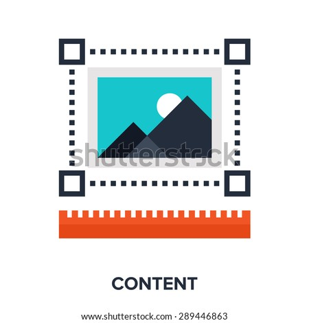 Abstract vector illustration of content flat design concept.