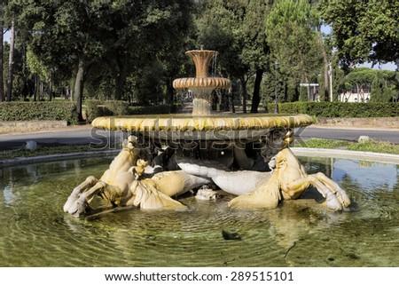 ROMA (Italy) - Villa Borghese, piazzale dei Cavalli Marini. #289515101