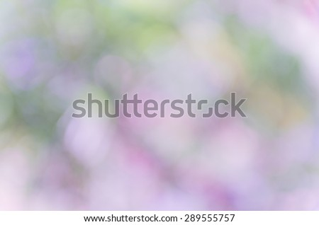 Violet abstract bokeh background from nature environment #289555757