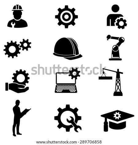 Engineer Vector Icon Royalty-Free Stock Photo #289706858