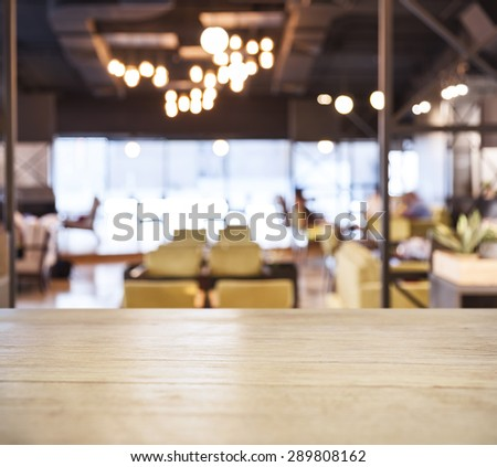 Table top counter Bar Blurred Cafe Restaurant background #289808162