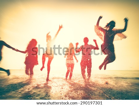 Friendship Freedom Beach Summer Holiday Concept #290197301