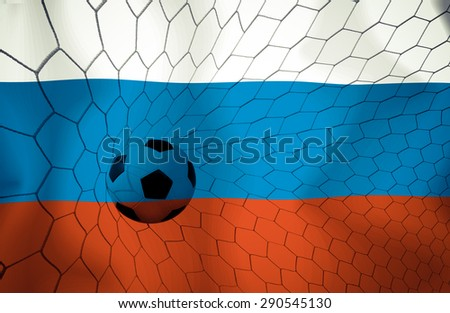 Russia soccer ball Color Vintage #290545130