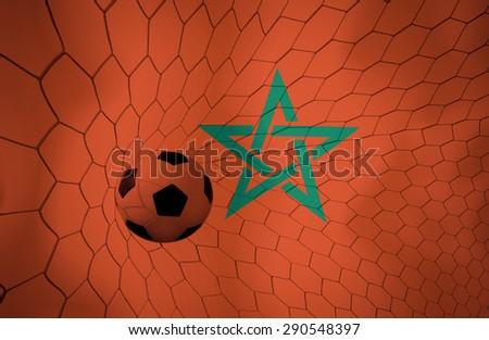 Morocco soccer ball Color Vintage #290548397