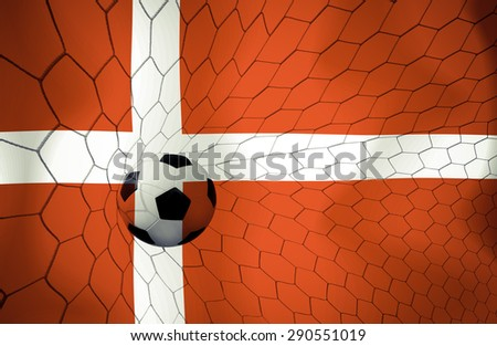 Denmark soccer ball Color Vintage #290551019