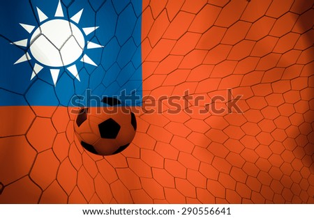 Chinese Taipe soccer ball Color Vintage #290556641