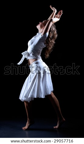 profile  of beauty dancer in movement #29057716