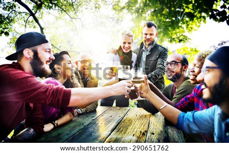 Diverse People Friends Hanging Out Drinking Concept #290651762