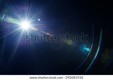 Natural lens flare.  Royalty-Free Stock Photo #290685926