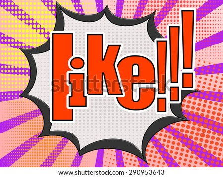 Like comic speech bubble image with hi-res rendered artwork that could be used for any graphic design. #290953643