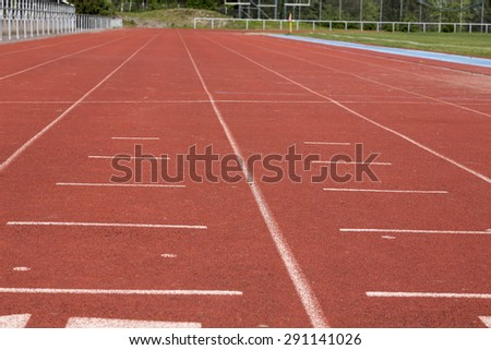 In the starting position on a track #291141026