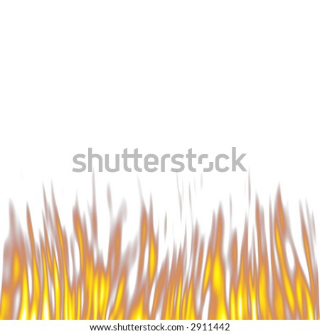Fire isolated in white #2911442