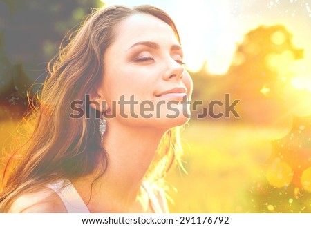 Women, Healthy Lifestyle, Sun. Royalty-Free Stock Photo #291176792
