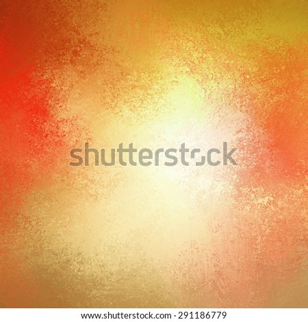 warm autumn background in red pink gold yellow and orange with white center and vintage grunge background texture, colorful background design