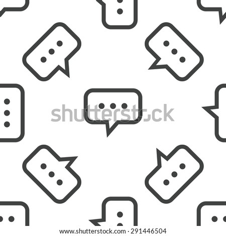 Image of chat bubble with dots, repeated on white background