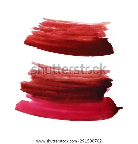 Watercolor strokes and texture. Vector design. #291500762